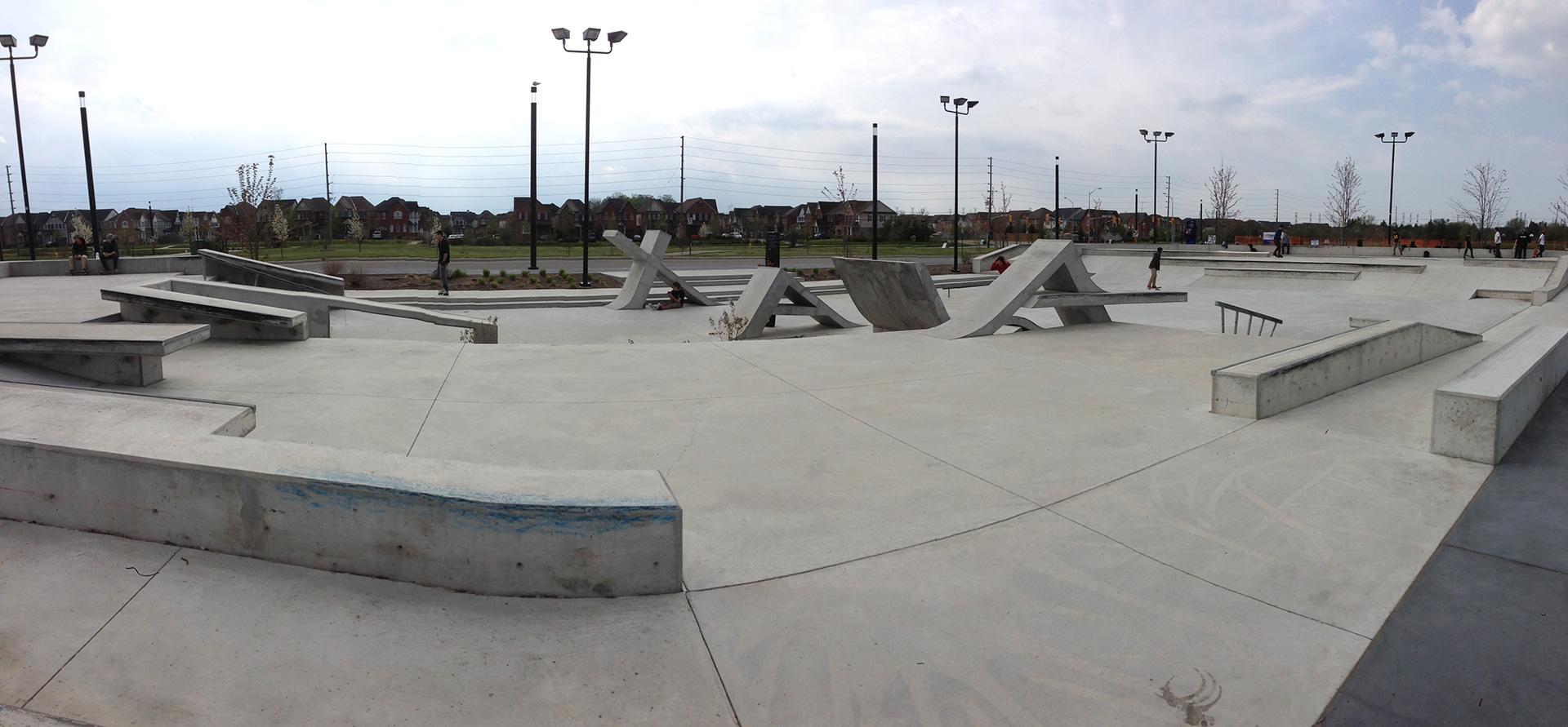 ajax skatepark from the side