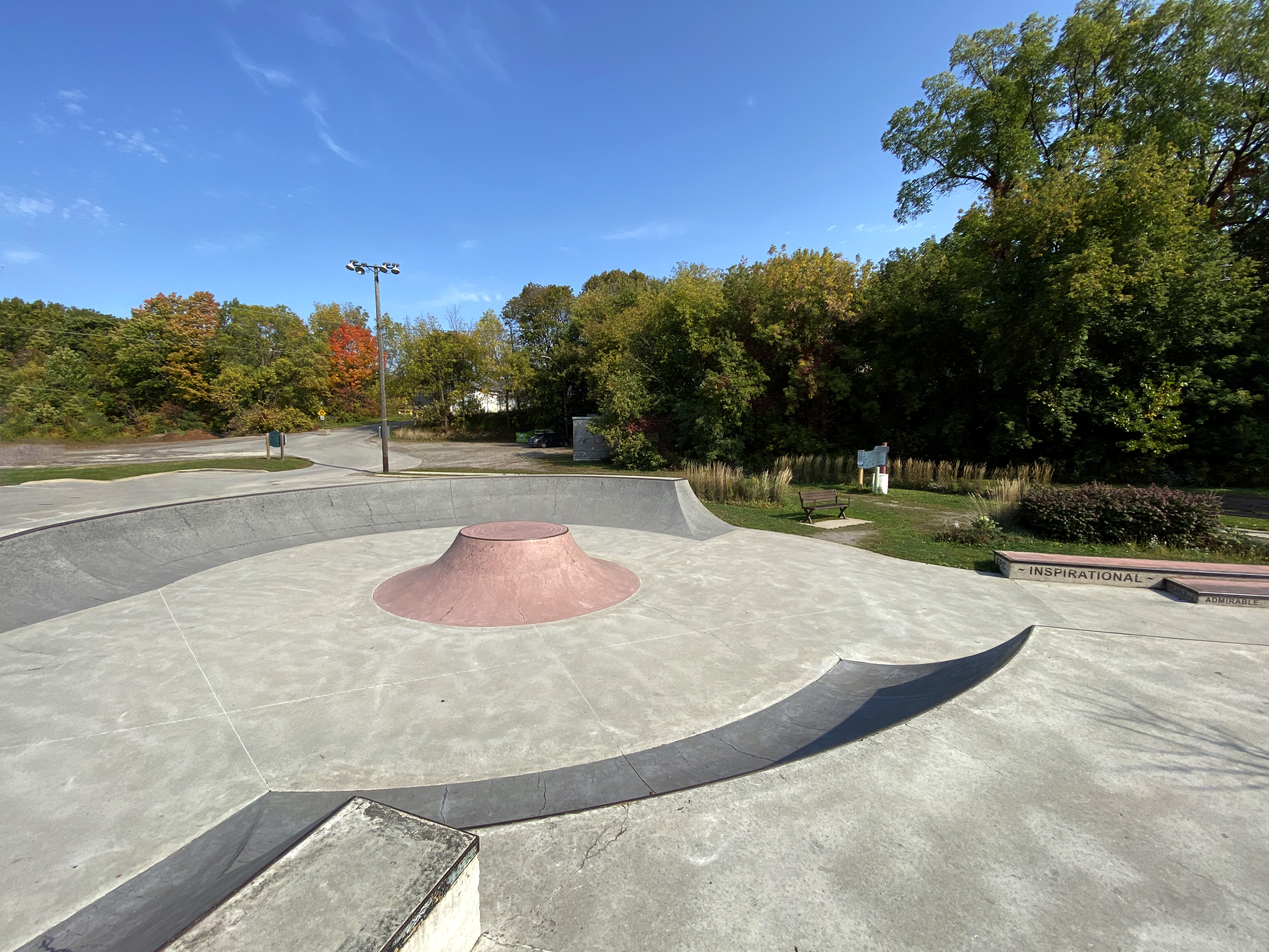 Fonthill skatepark from the top of the bowl