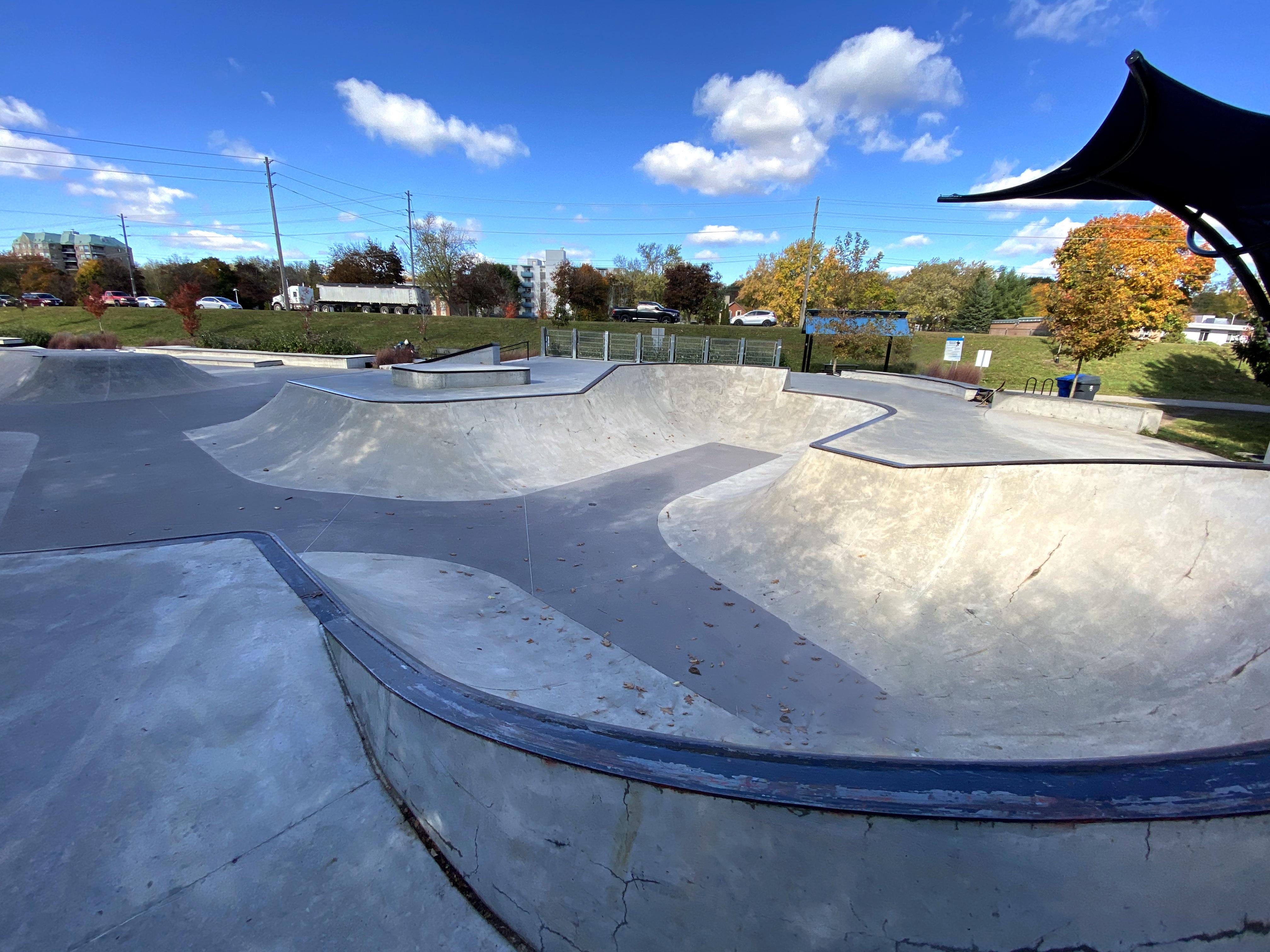 Guelph Skatepark near the front