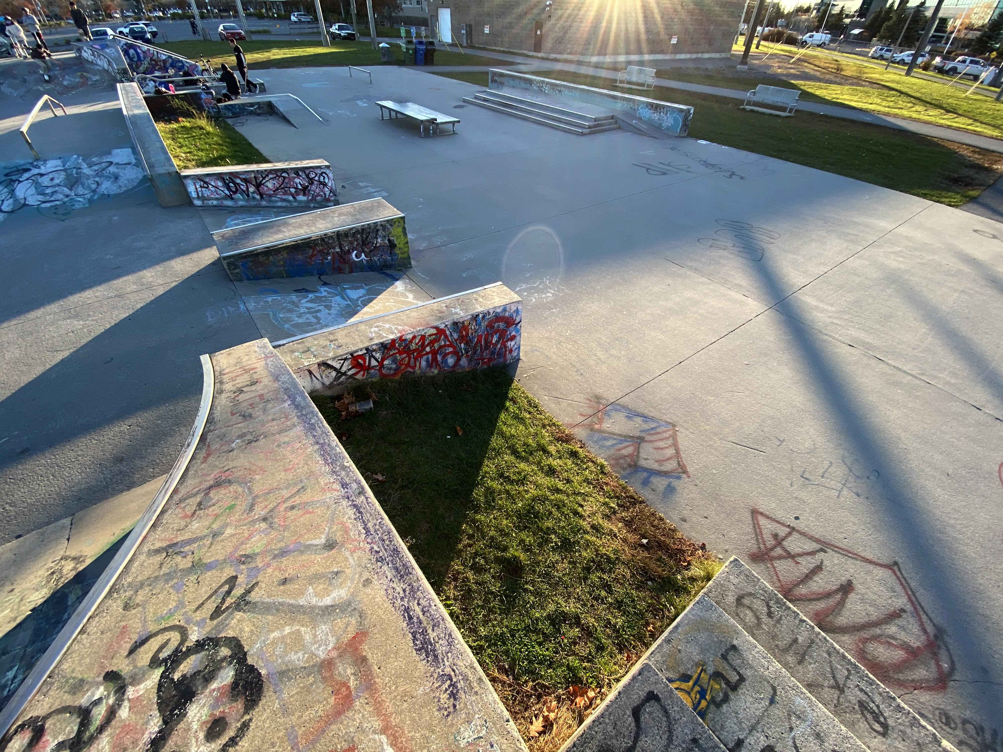 Ottawa legacy skatepark smaller street course from the back