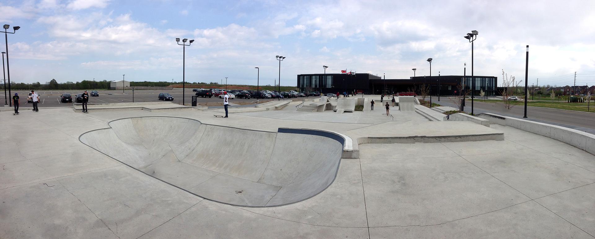 ajax skatepark from near the bowl