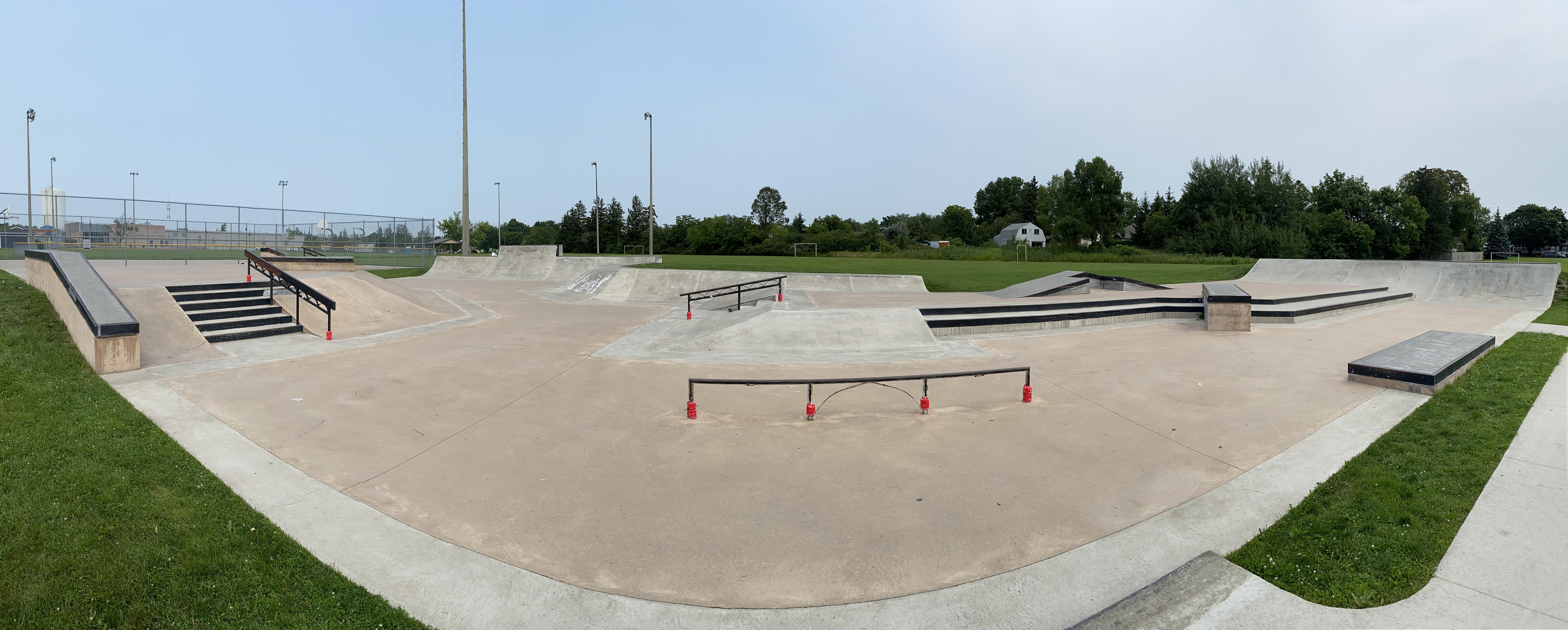 Caledonia Skatepark panoramic