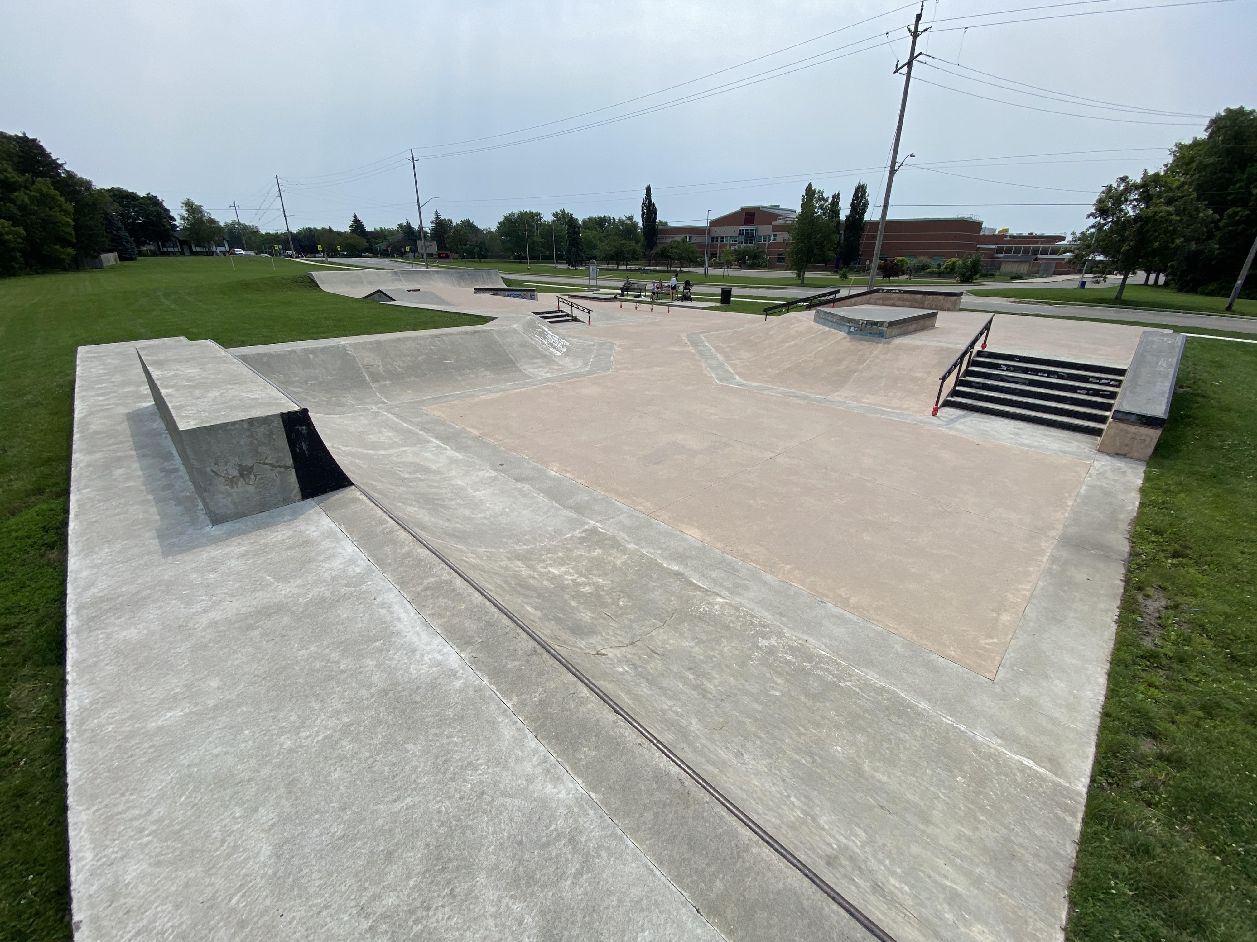 Caledonia Skatepark from the back
