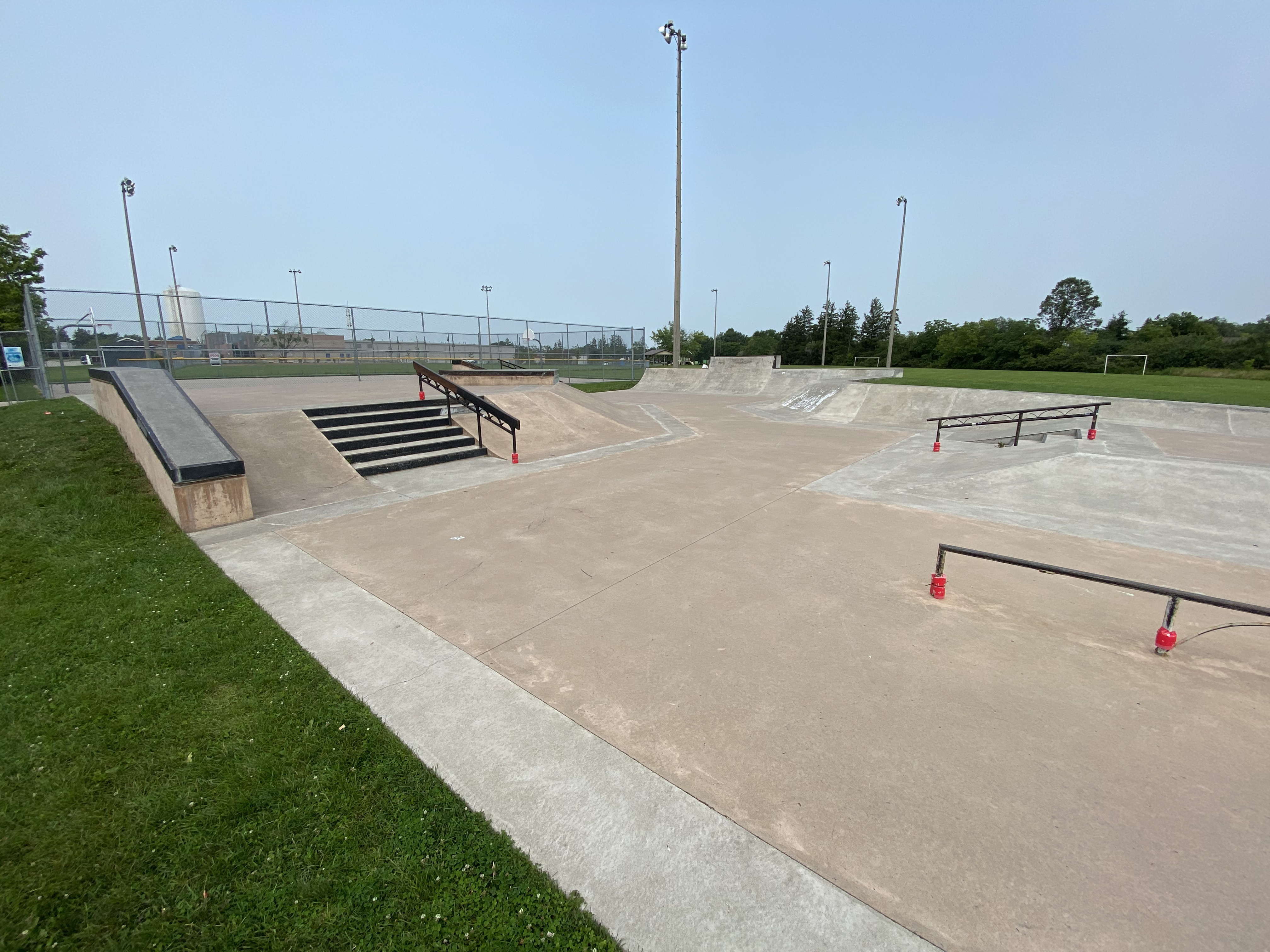 Caledonia Skatepark from middle looking left