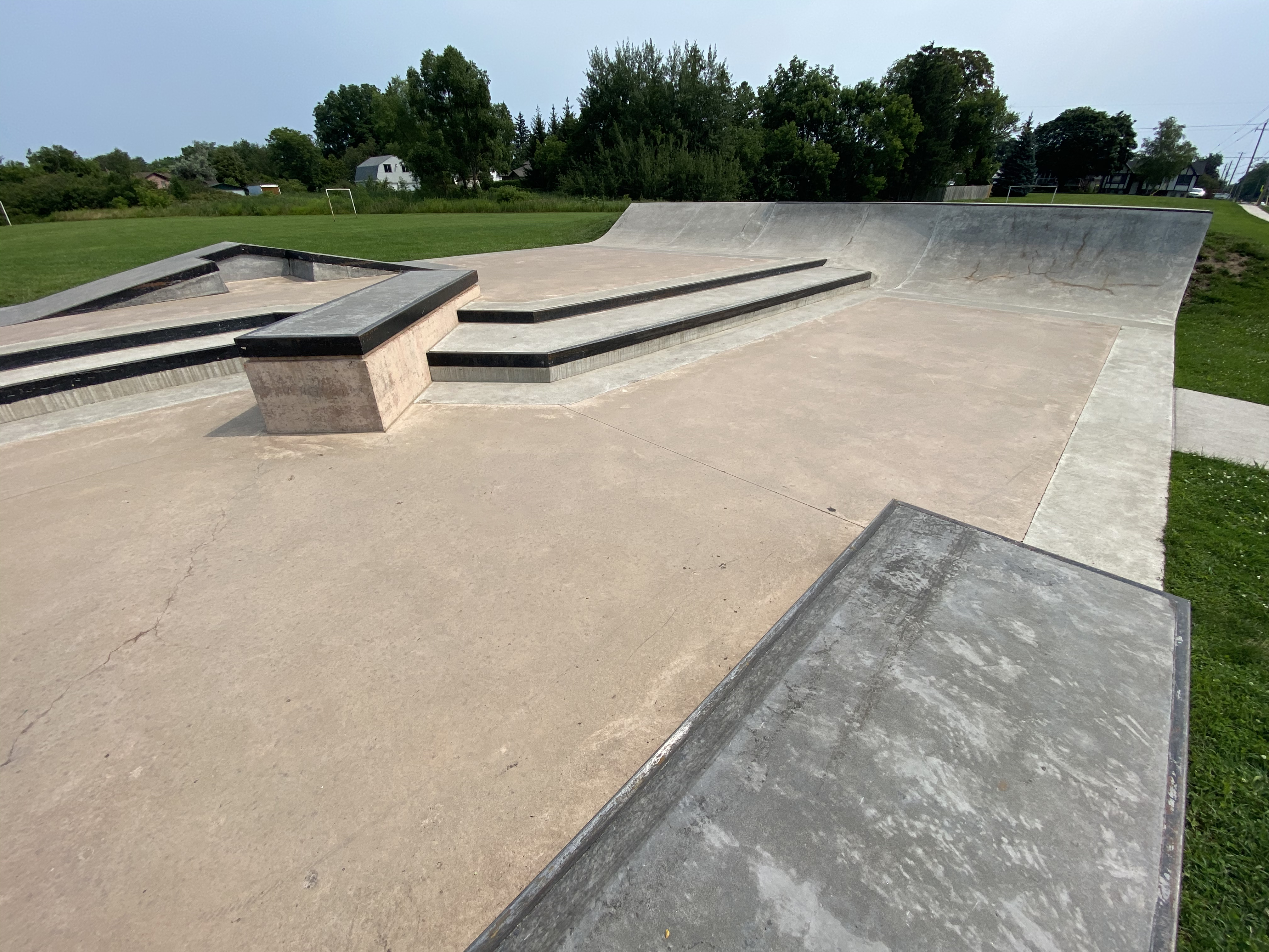 Caledonia Skatepark from the middle