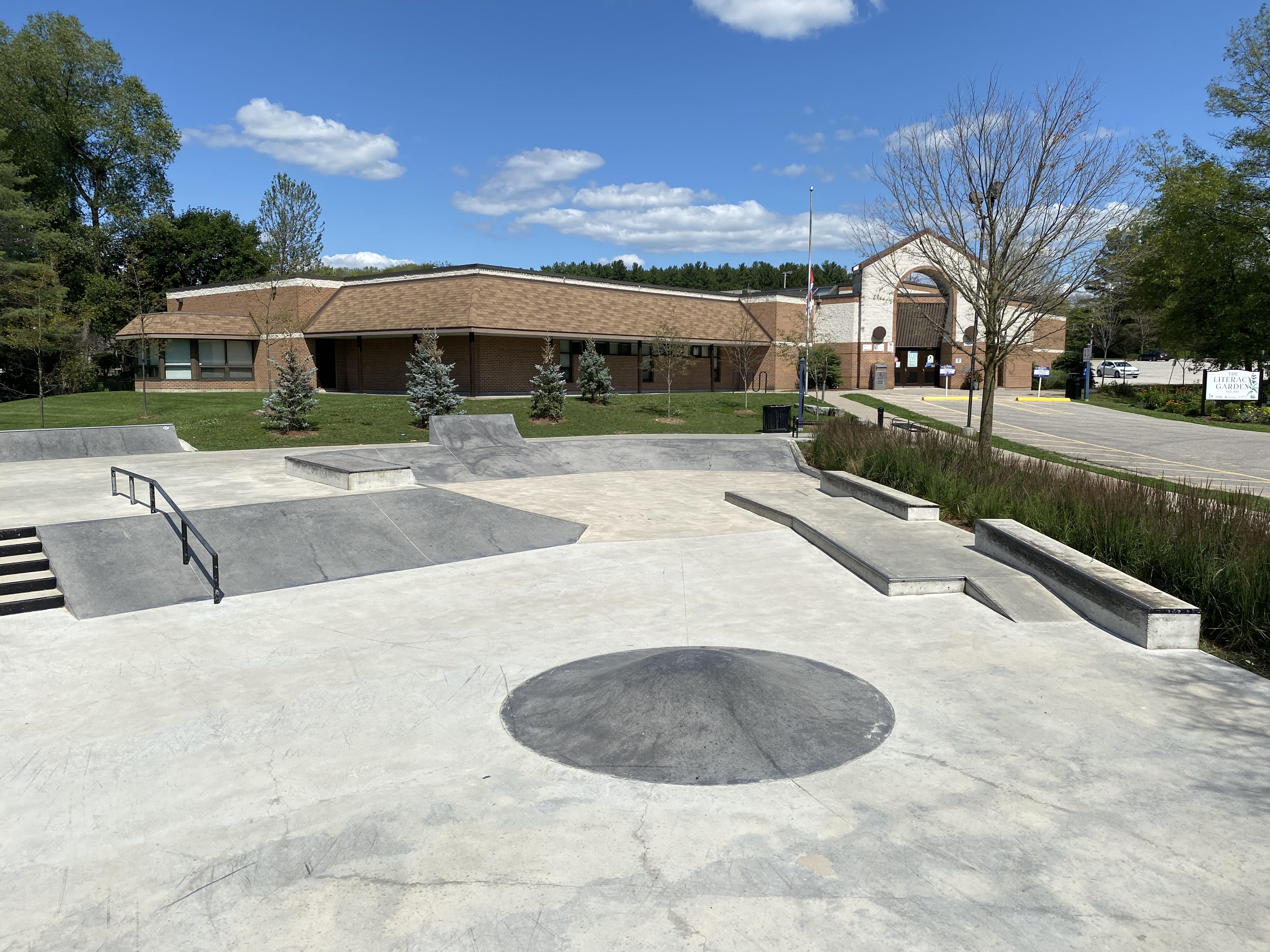 holland landing skatepark from the rear