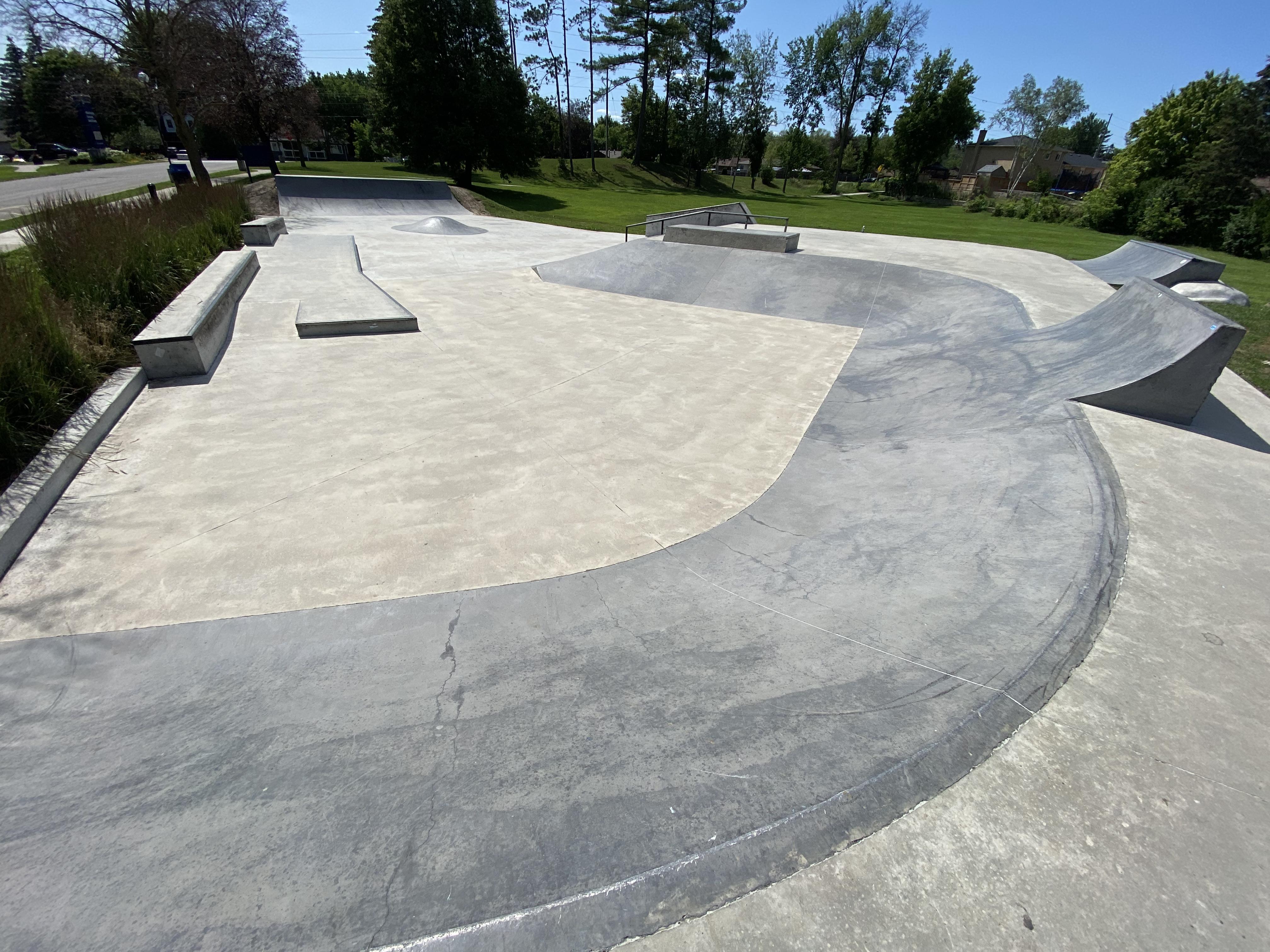 holland landing skatepark from the entrance