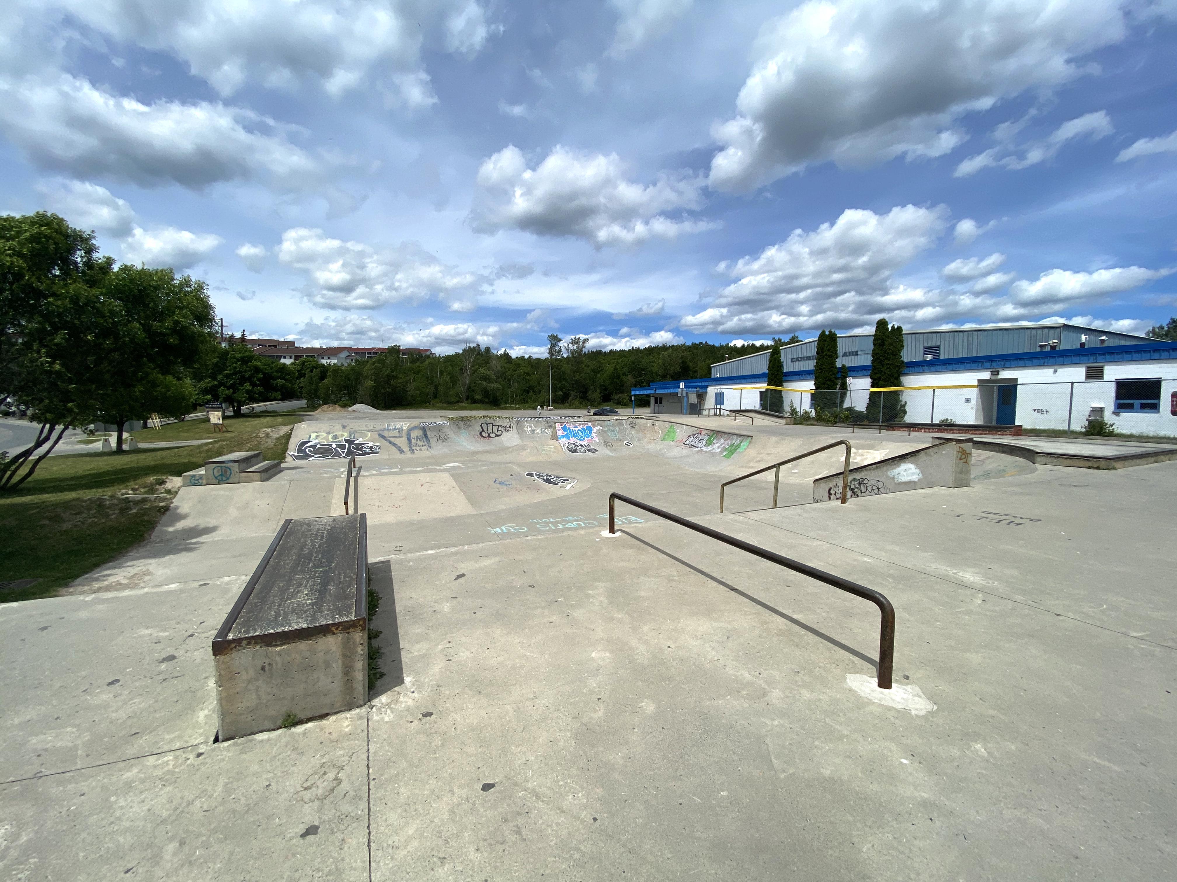 Sudbury Skatepark rail and ledge