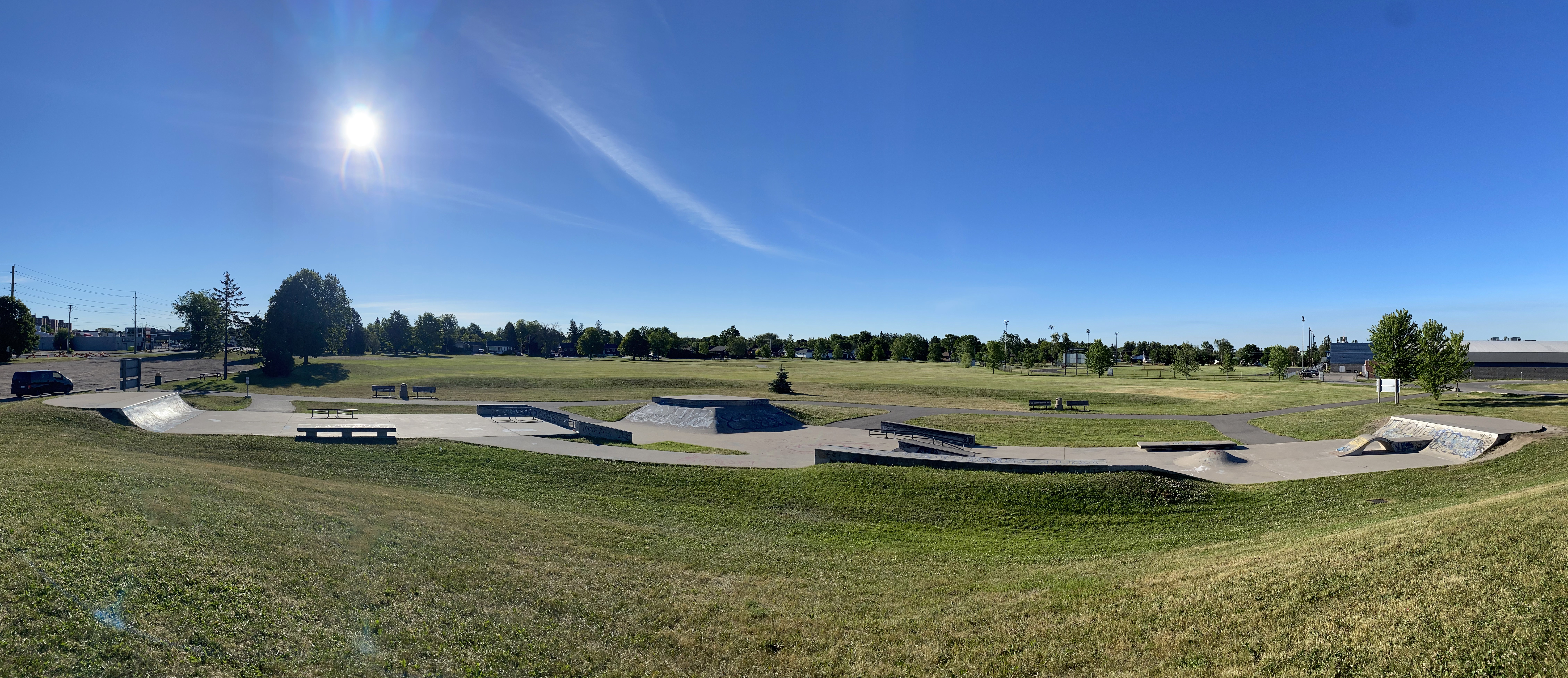 sault-ste marie skatepark full panoramic