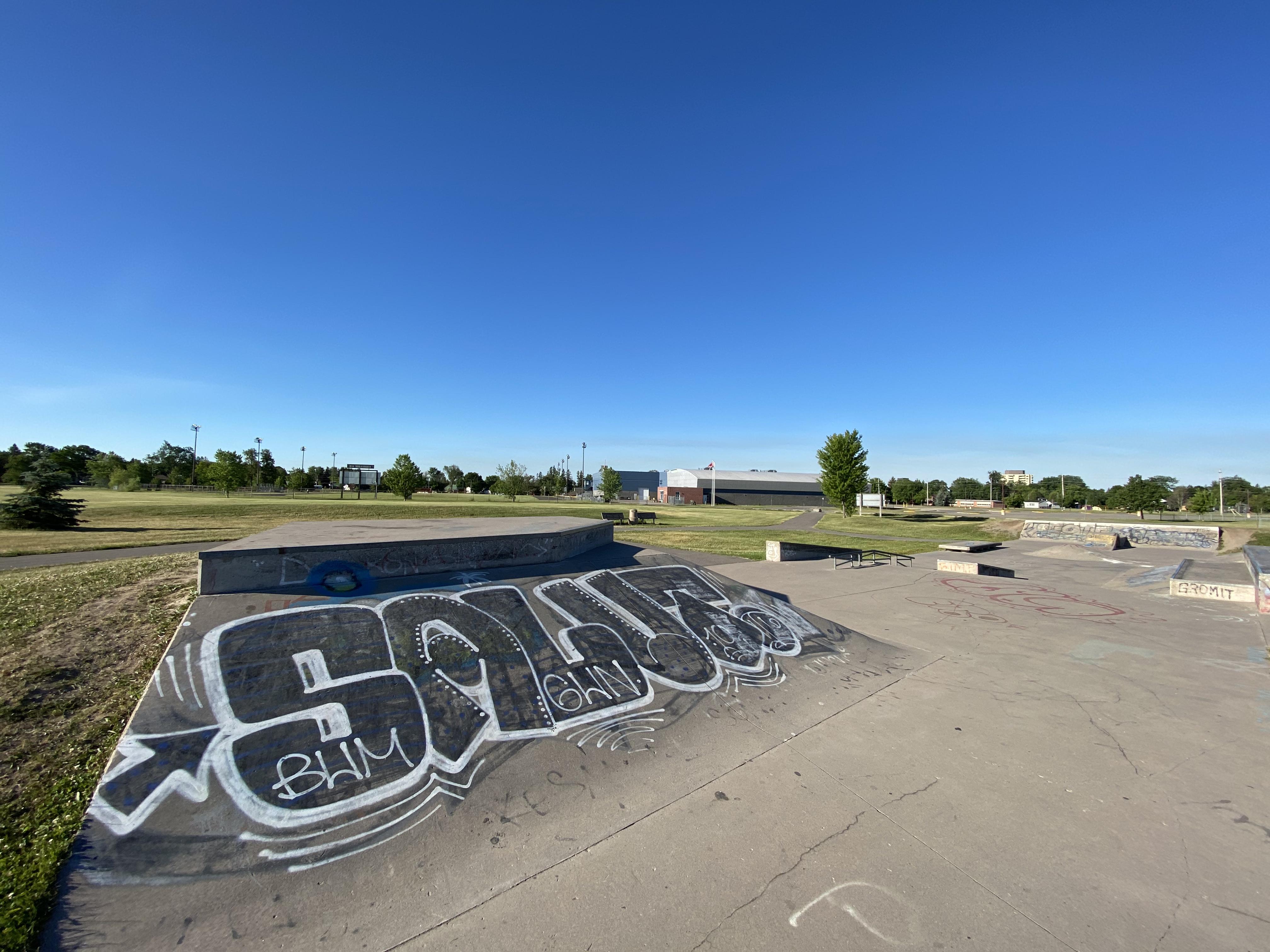 sault-ste marie skatepark bank to ledge
