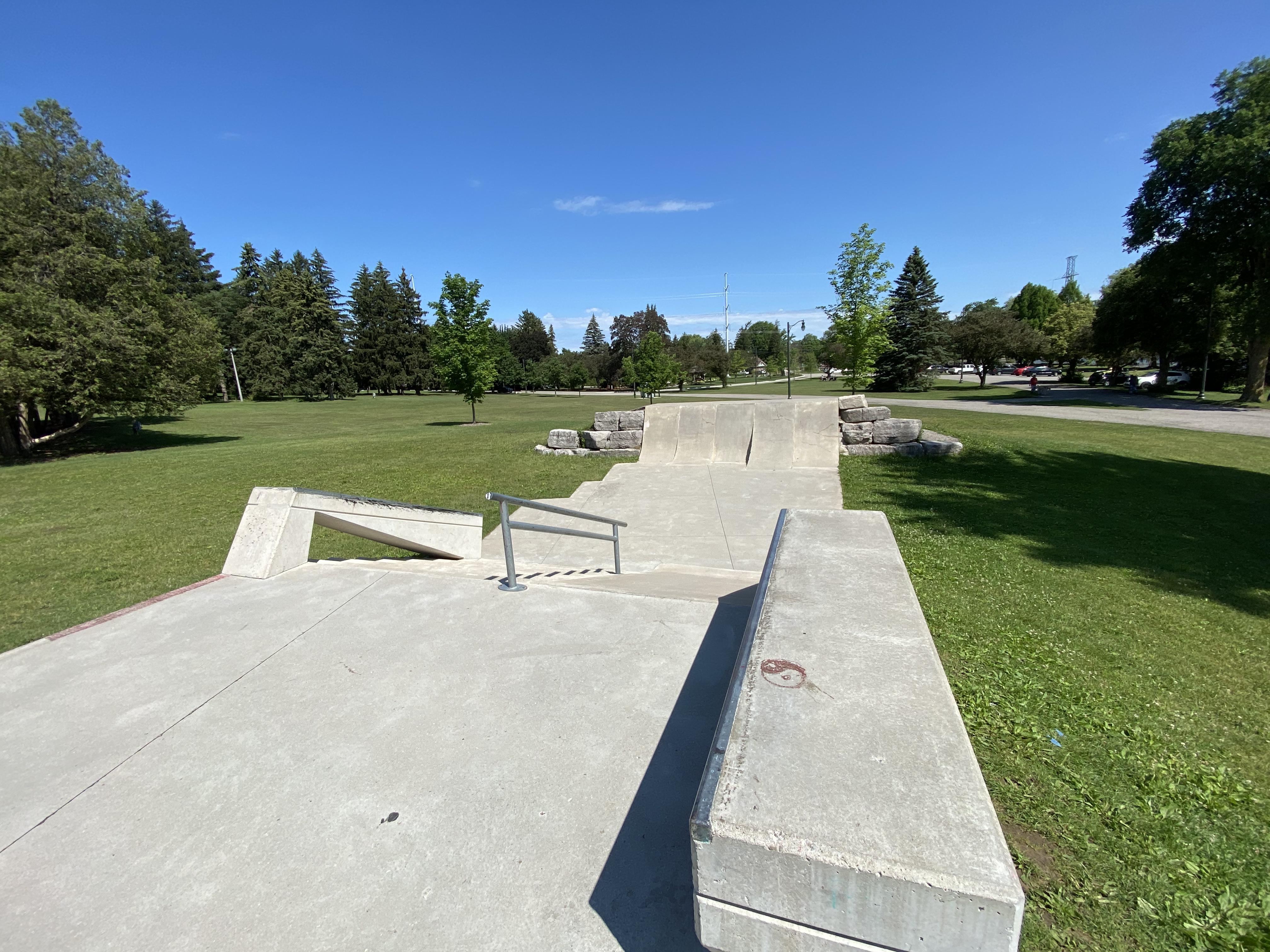 woodstock skatepark end of plaza section