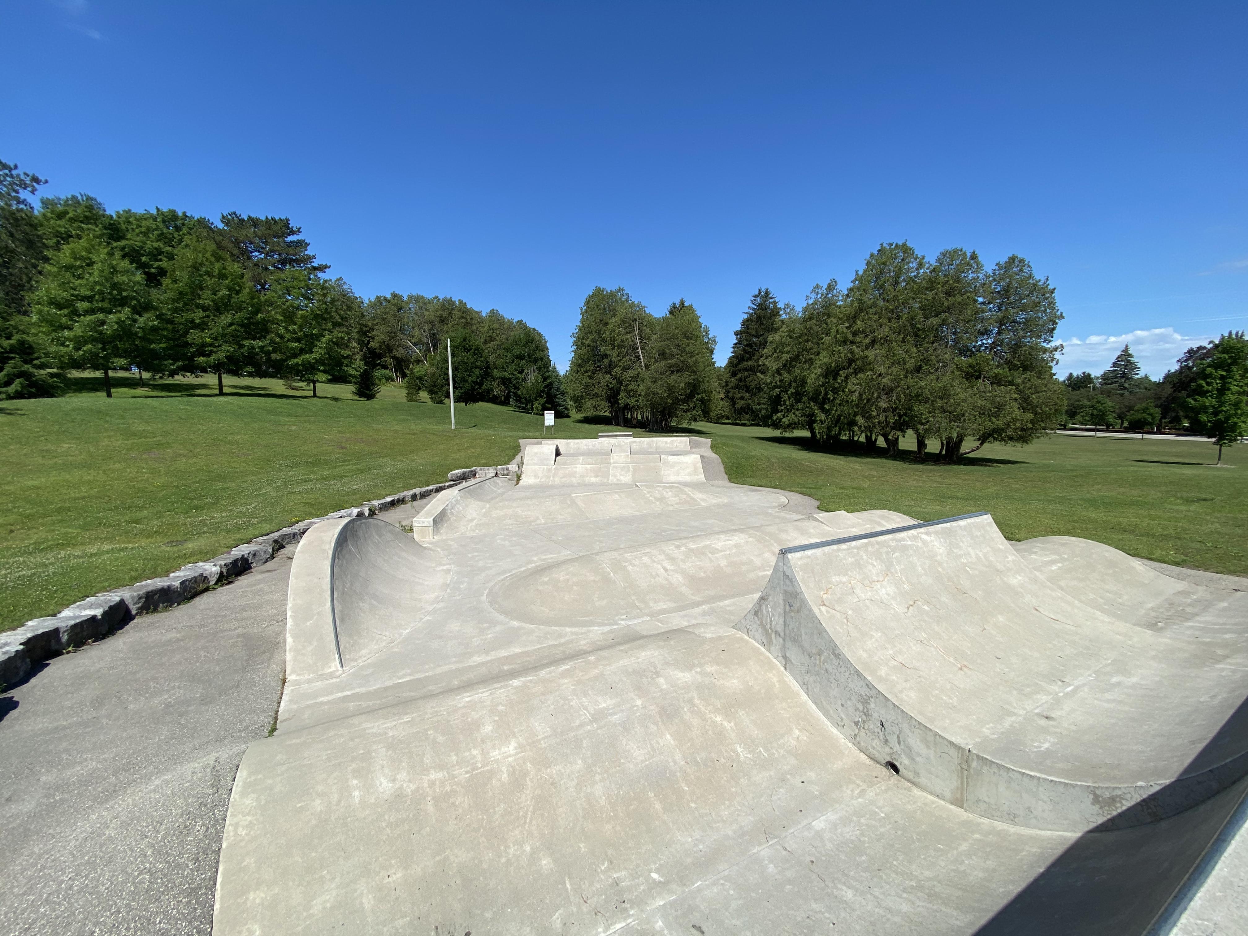 woodstock skatepark main section from the left