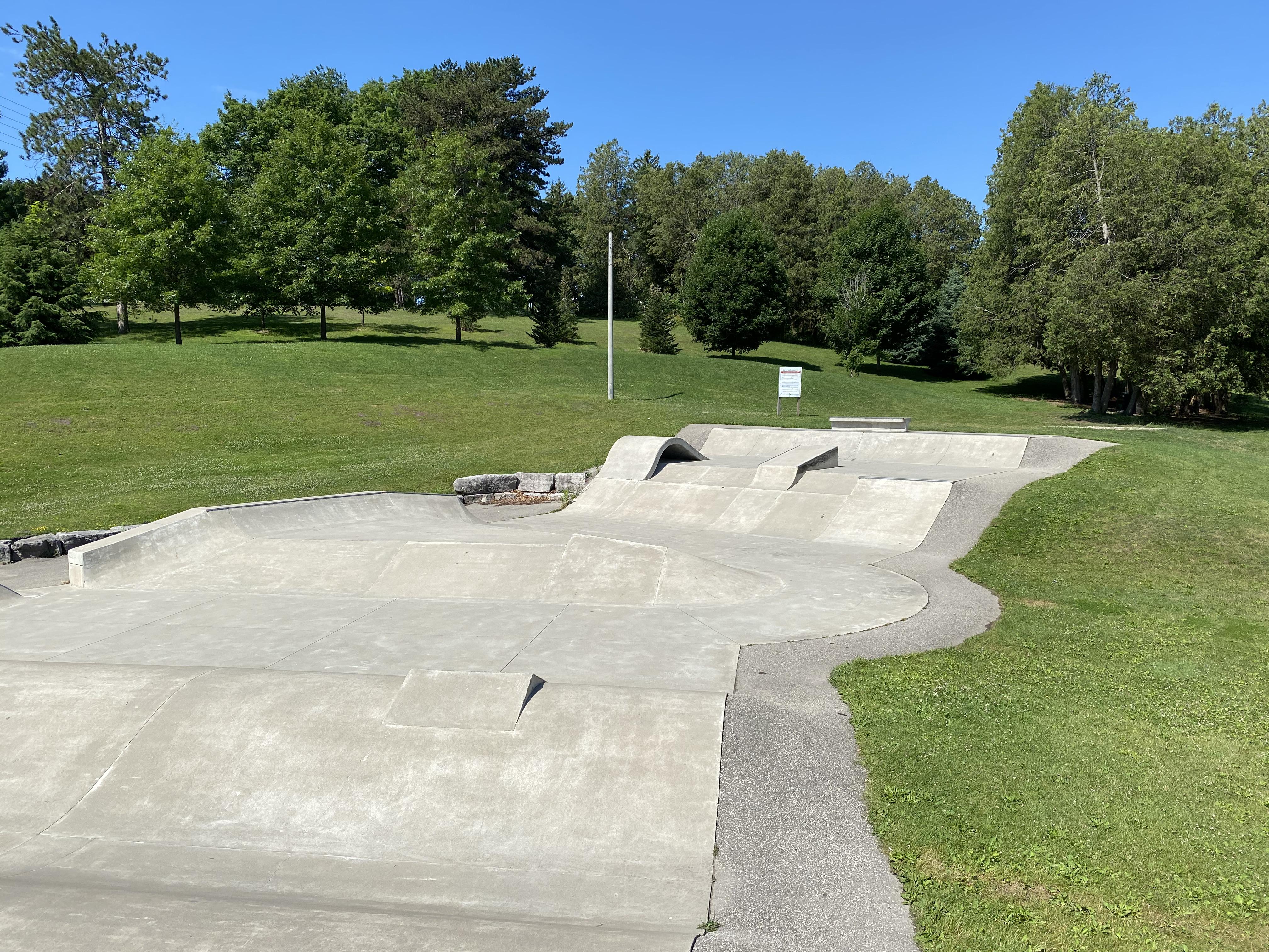 woodstock skatepark main section from afar
